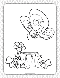 Printable Butterfly Pdf Coloring Pages 13