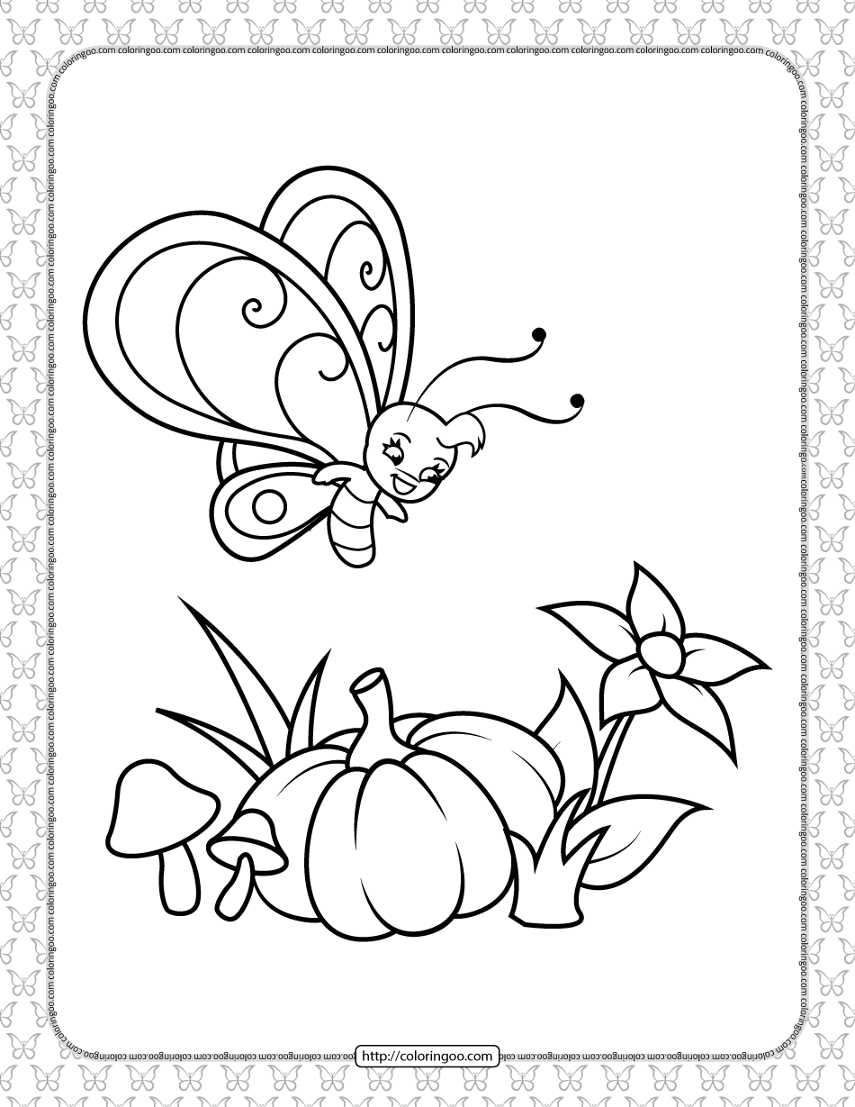 Printable Butterfly Pdf Coloring Pages 14