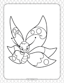 Printable Butterfly Pdf Coloring Pages 15