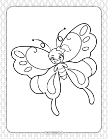 Printable Butterfly Pdf Coloring Pages 16