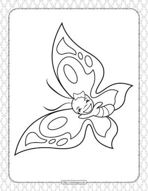 Printable Butterfly Pdf Coloring Pages 17