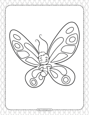 Printable Butterfly Pdf Coloring Pages 18