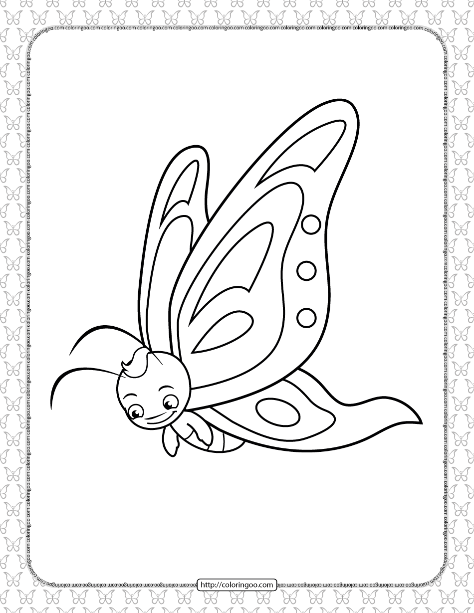 Printable Butterfly Pdf Coloring Pages 19
