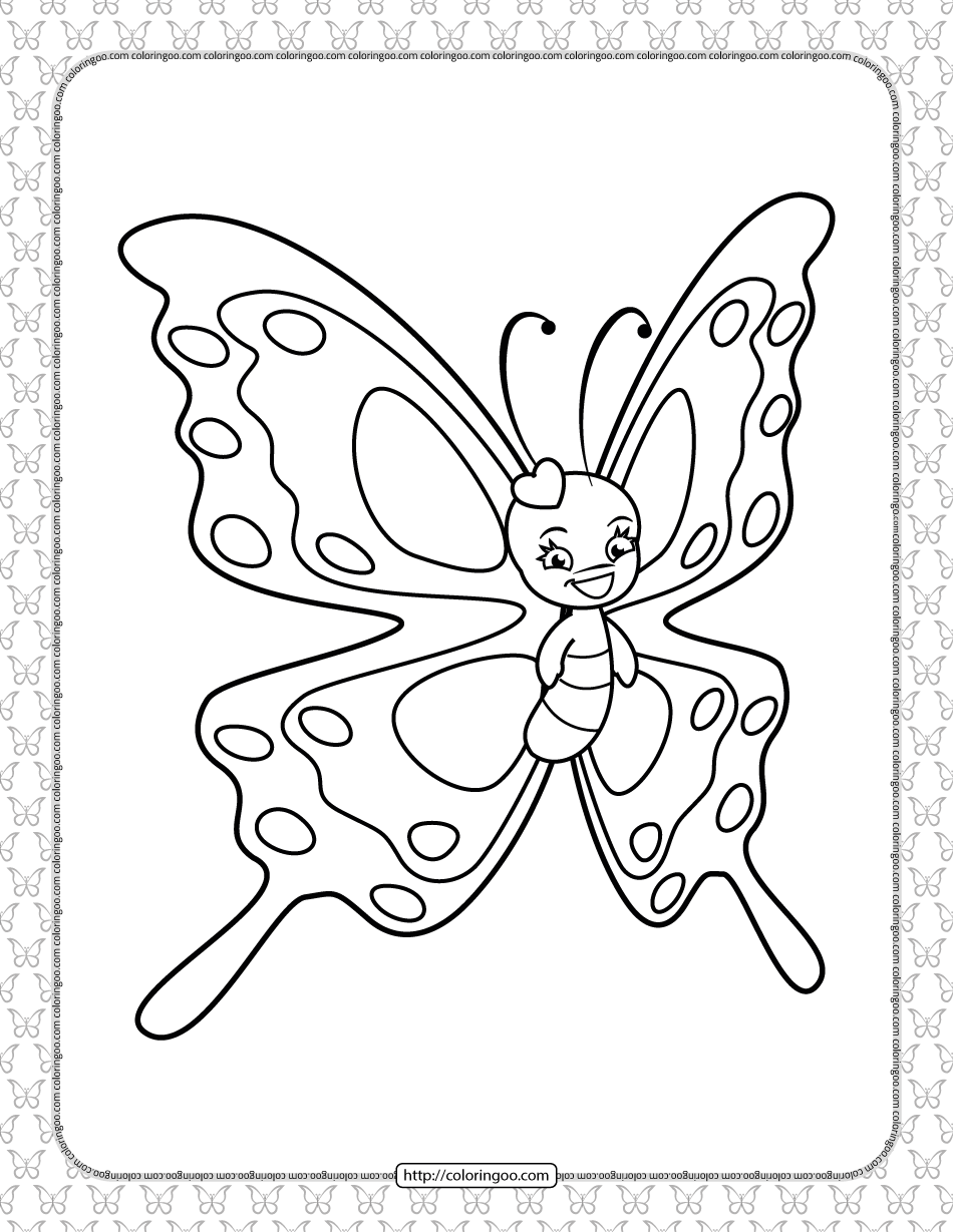 Printable Butterfly Pdf Coloring Pages 20