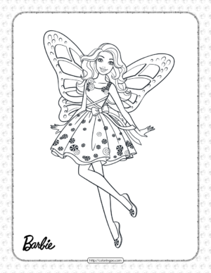 Printable Candy Girl Barbie Coloring Page