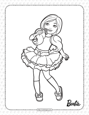 Printable Chelsea is Singing Coloring Page