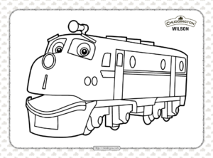 Printable Chuggington Wilson Coloring Page