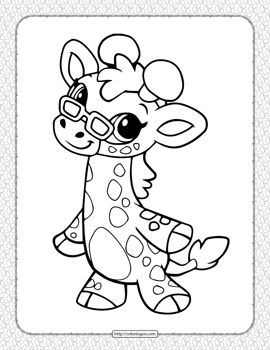 Printable Cute Giraffe Coloring Pages for Kids