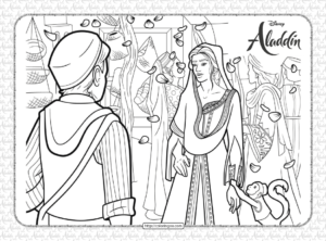 Printable Disney Aladdin Coloring Pages