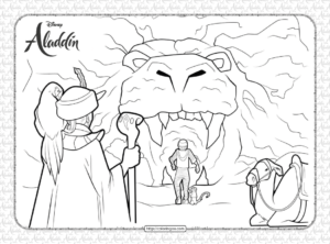 Printable Disney Aladdin Coloring Sheets