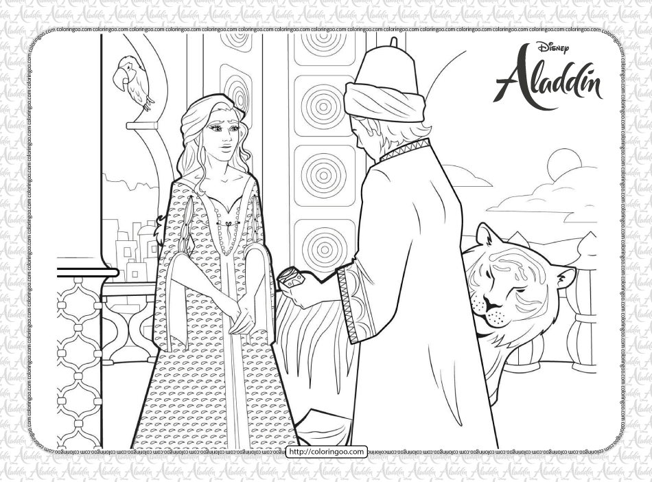 Printable Disney Aladdin Pdf Coloring Pages