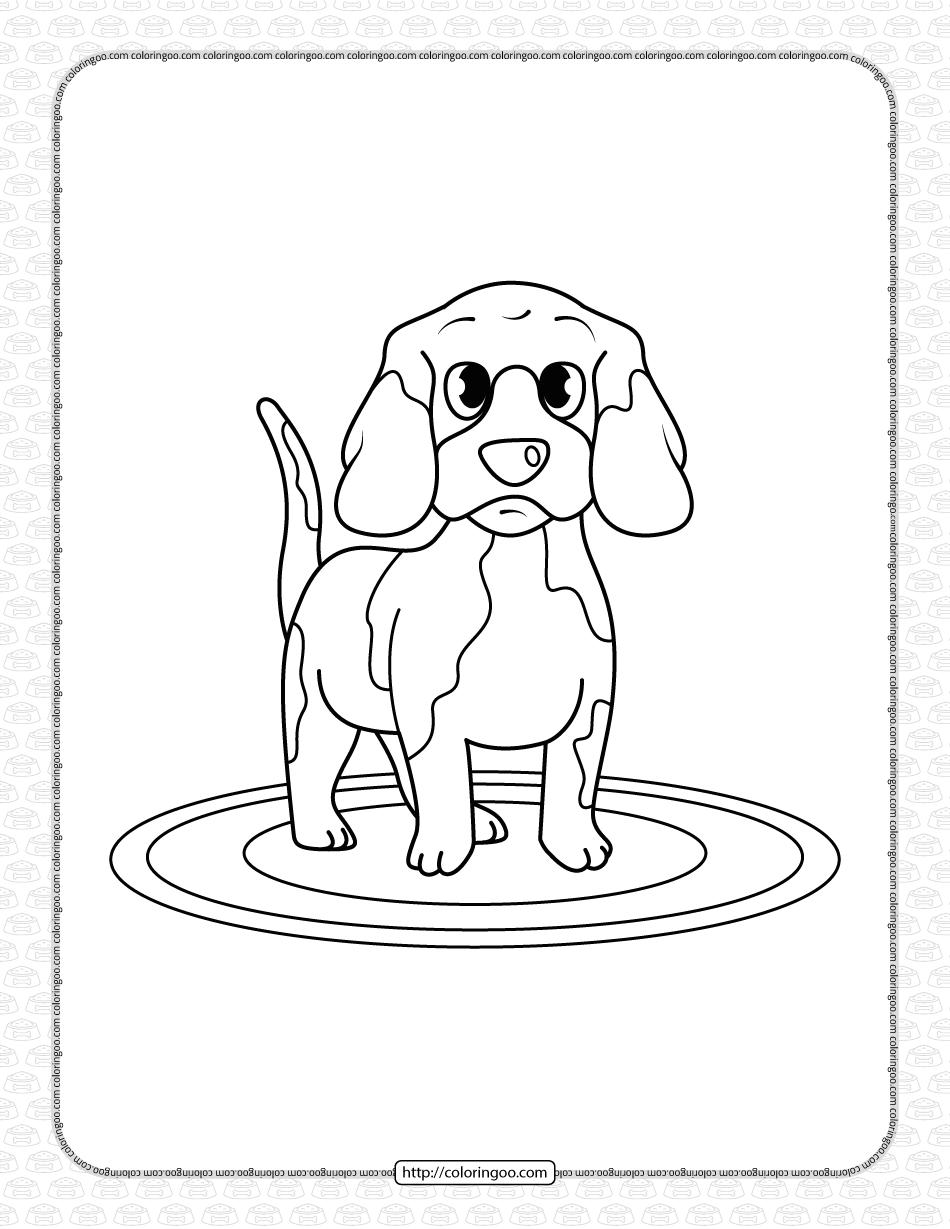 Printable Dog Coloring Page for Boys