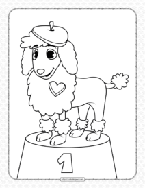 Printable Dog Coloring Page for Kids