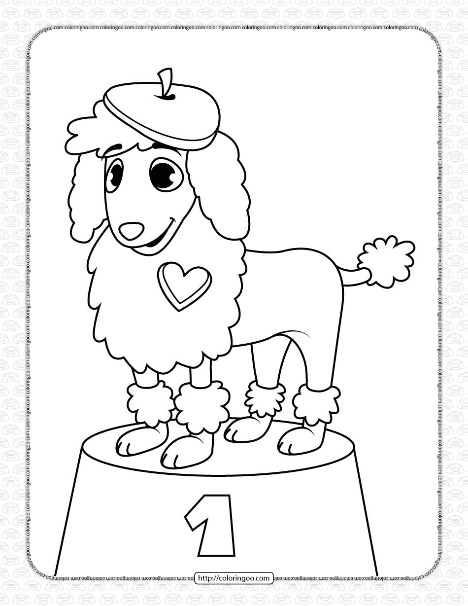 Printable Dog Coloring Page for Kids