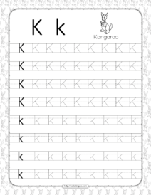 Printable Dotted Letter K Tracing Pdf Worksheet