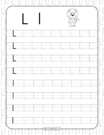 Printable Dotted Letter L Tracing Pdf Worksheet