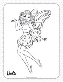 Printable Fairy Princess Barbie Coloring Page