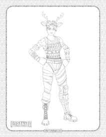 Printable Fortnite Red Nose Raider Coloring Page