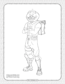 Printable Fortnite Tomato Head Skin Coloring Page