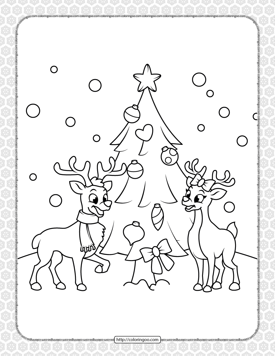 Printable Happy Christmas Coloring Pages 02