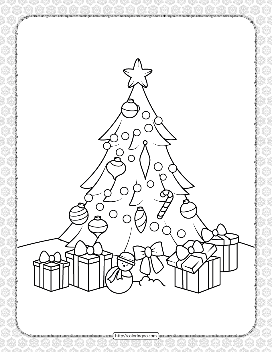 Printable Happy Christmas Coloring Pages 03