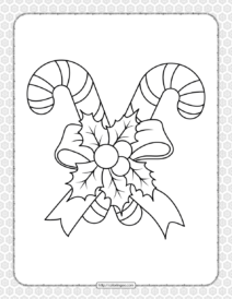 Printable Happy Christmas Coloring Pages 04