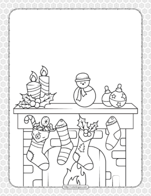 Printable Happy Christmas Coloring Pages 05