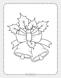 Printable Happy Christmas Coloring Pages 06