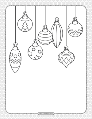 Printable Happy Christmas Coloring Pages 07