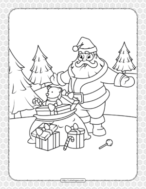 Printable Happy Christmas Coloring Pages 08