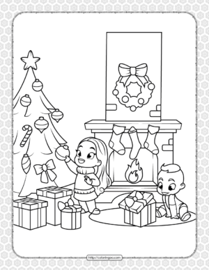 Printable Happy Christmas Coloring Pages 09