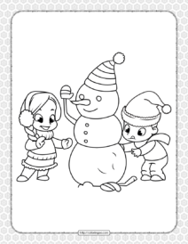 Printable Happy Christmas Coloring Pages 11