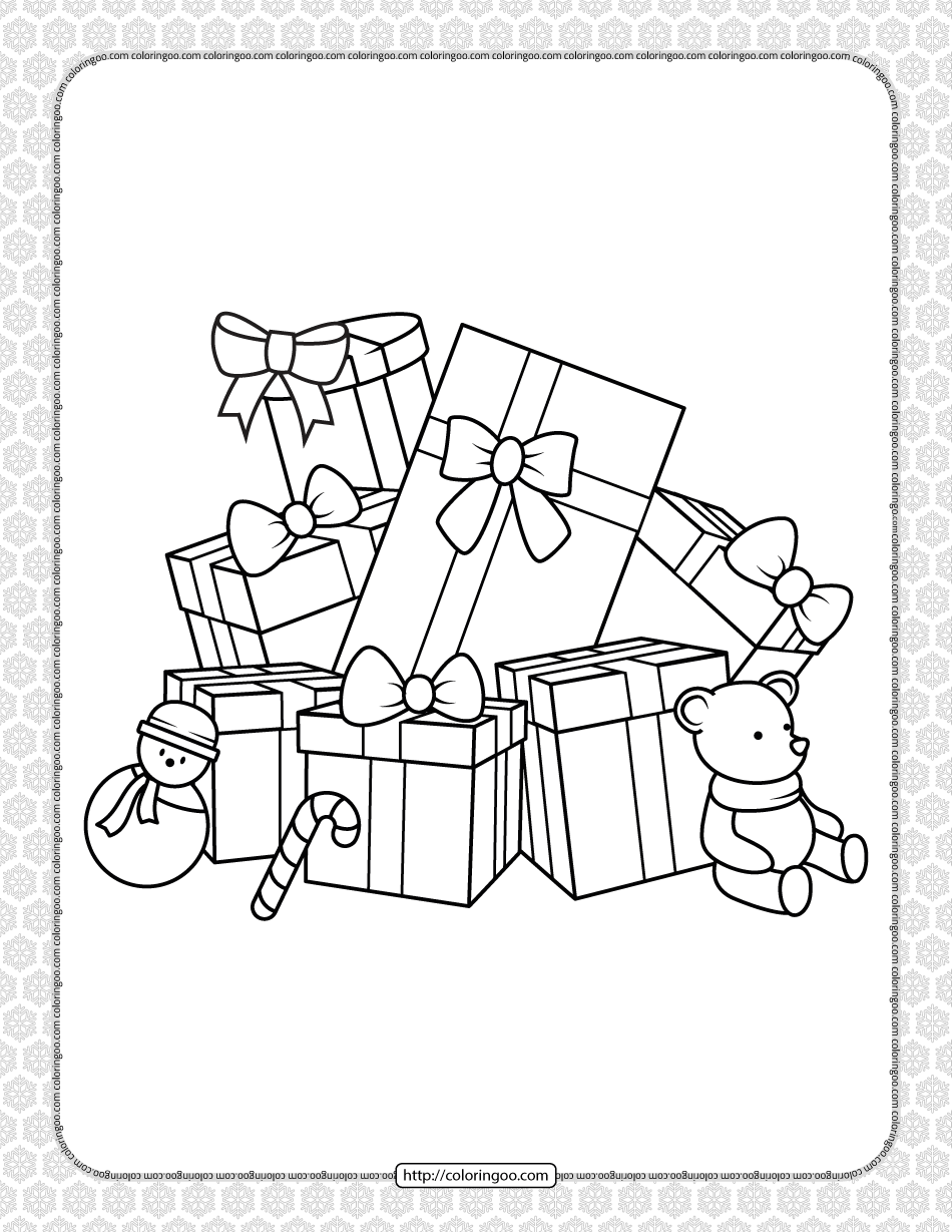 Printable Happy Christmas Coloring Pages 12