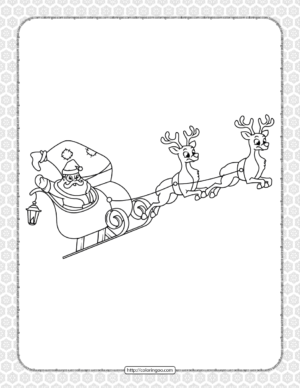 Printable Happy Christmas Coloring Pages 13