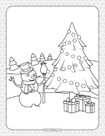 Printable Happy Christmas Coloring Pages 14