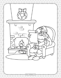 Printable Happy Christmas Coloring Pages 15