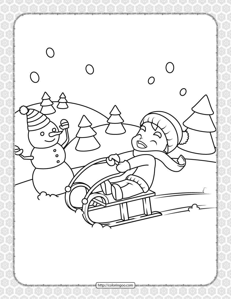 Printable Happy Christmas Coloring Pages 16