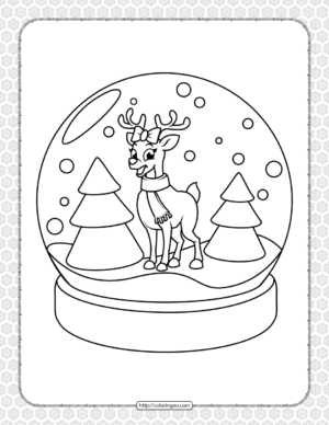 Printable Happy Christmas Coloring Pages 17