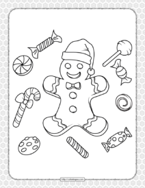 Printable Happy Christmas Coloring Pages 18