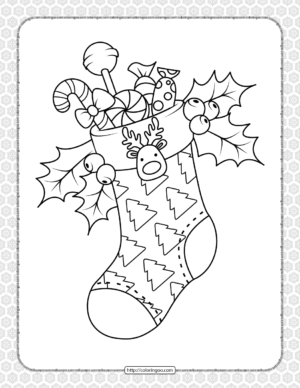Happy Christmas Coloring Pages for Kids
