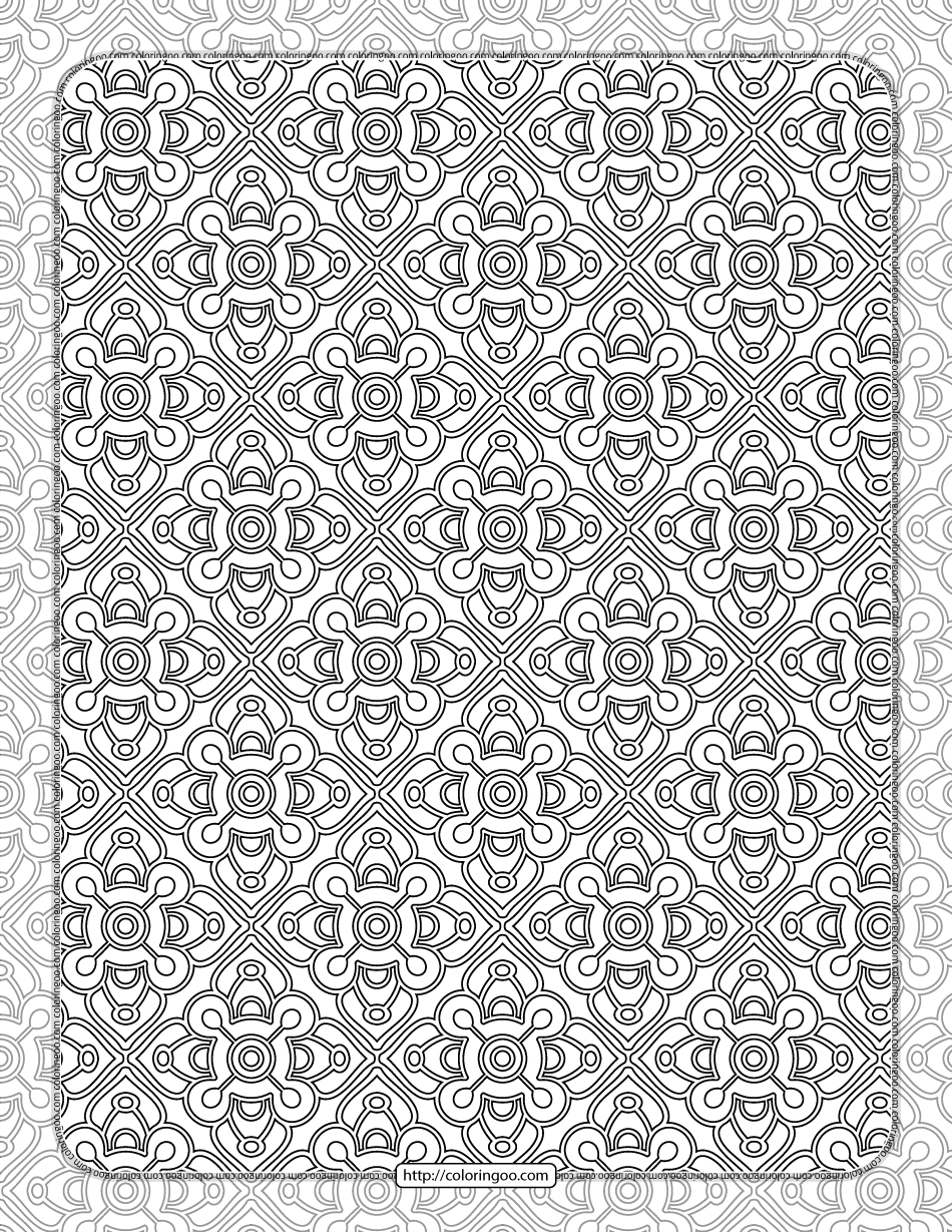 Printable Ornamental Mandala Coloring Pages 03