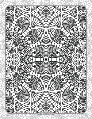 Printable Ornamental Mandala Coloring Pages 07