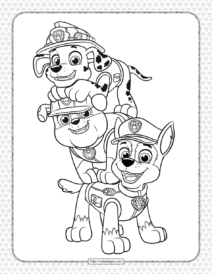 Printable Paw Patrol Pups Coloring Pages for Kids