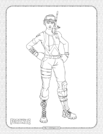 Printable Snorkel Ops Fortnite Skin Coloring Page