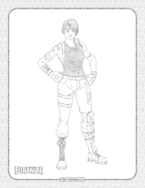 Sparkle Specialist Fortnite Skin Coloring Page