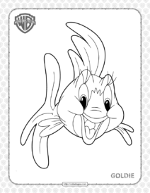 Printable Tom and Jerry Goldie Coloring Page