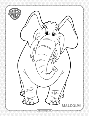 Printable Tom and Jerry Malcolm Coloring Page
