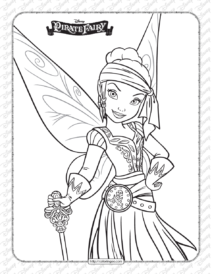 Printables Disney Pirate Fairy Iridessa Coloring Page