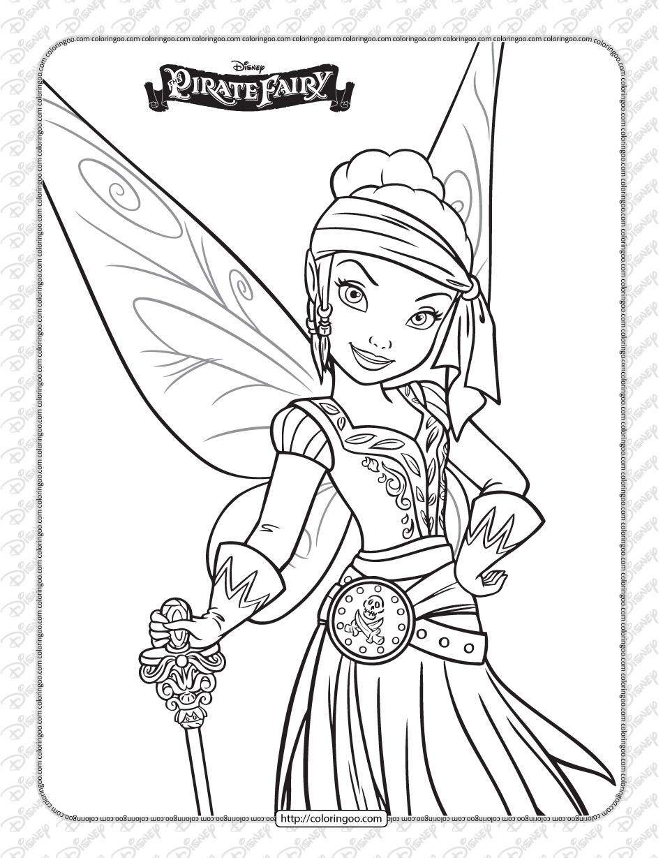Printables Disney Pirate Fairy Iridessa Coloring Page