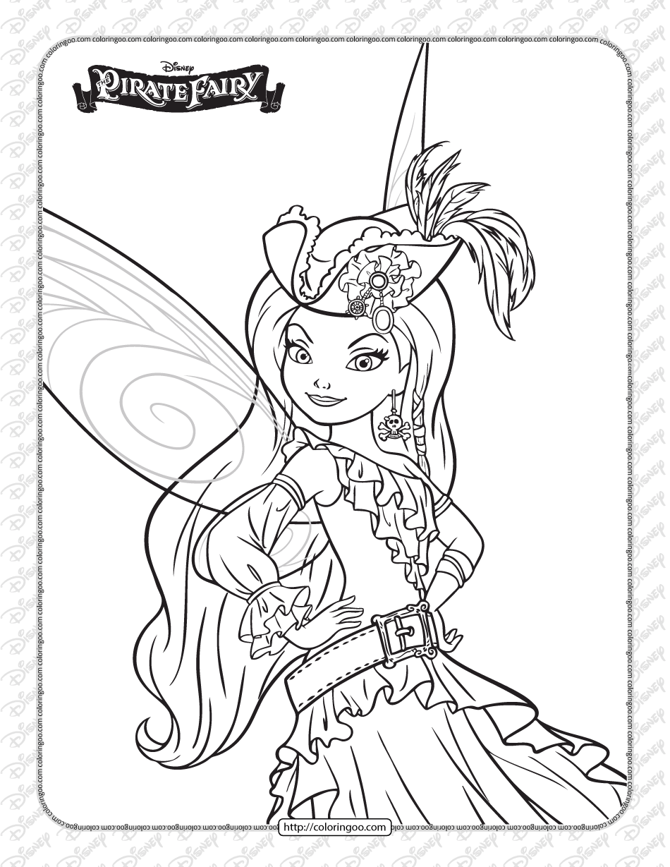Printables Disney Pirate Fairy Silvermist Coloring Page